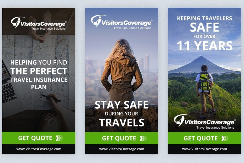 Travel banner ad design