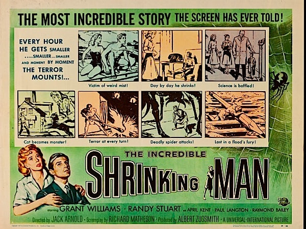 "Film poster for ""The Incredible Shrinking Man"""