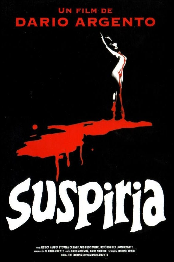 Original film poster for Suspiria