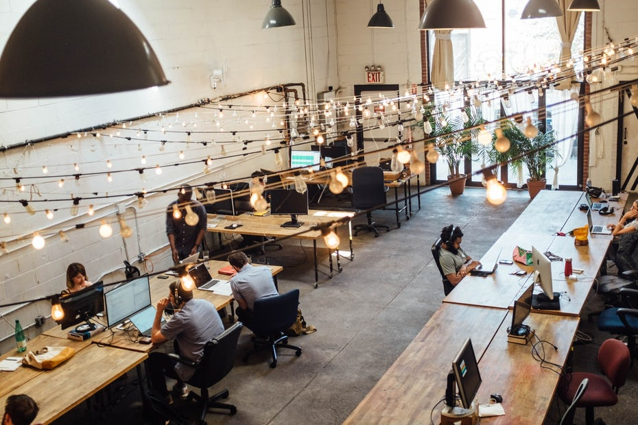 Interior coworking space