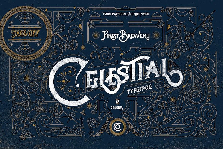 Celestial Victorian typeface
