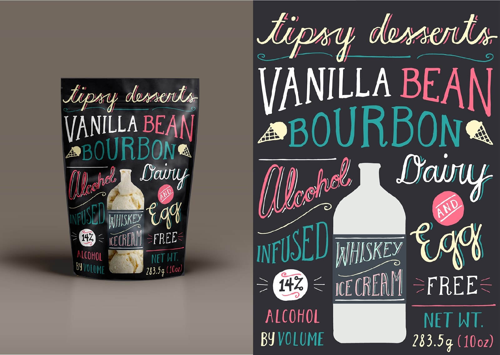 Whiskey Ice Cream whimsical font