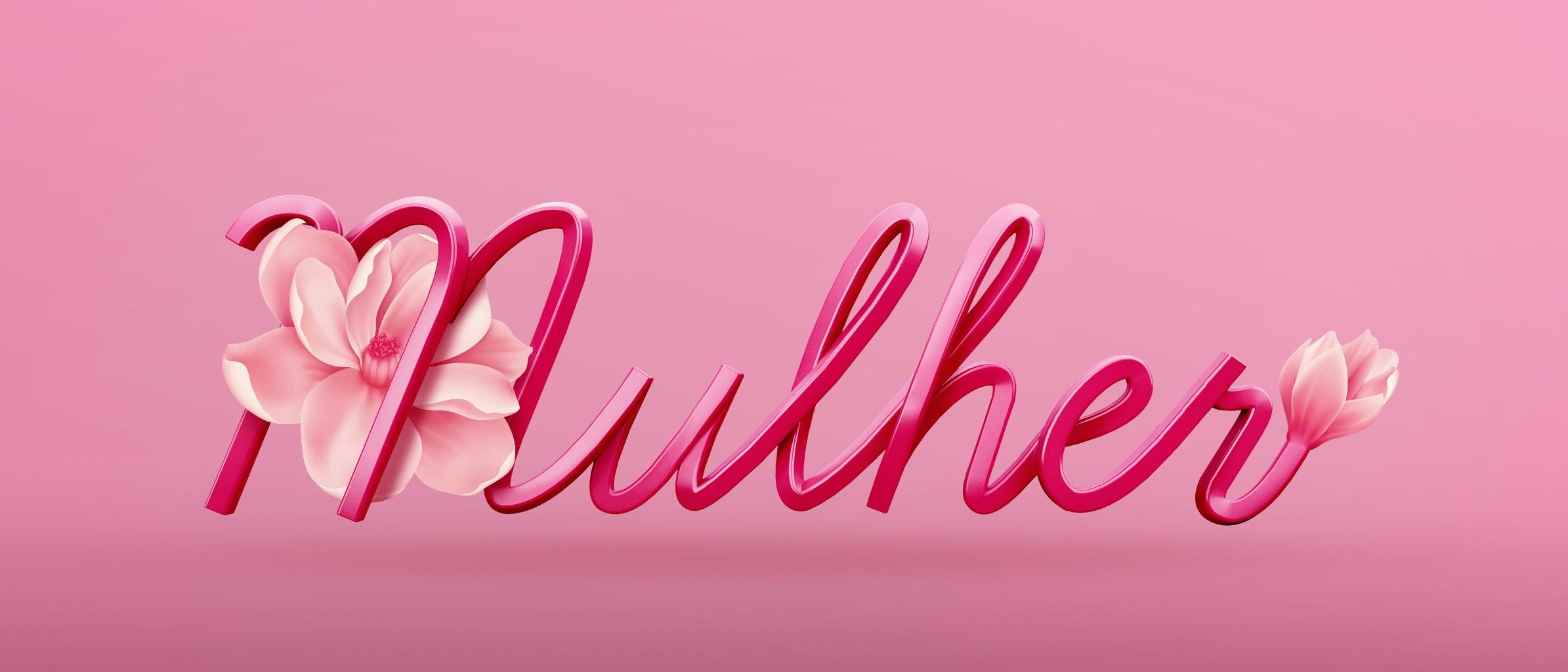 Mulher 3D logo
