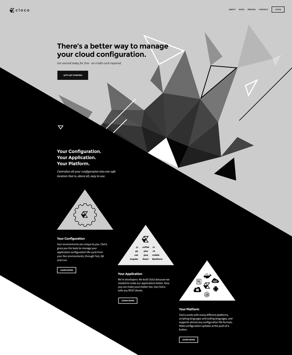 Deconstructed web design