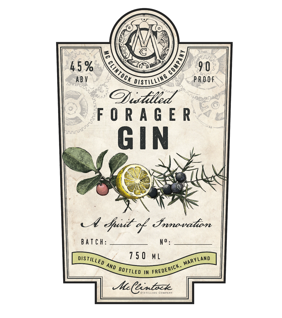 vintage gin label design