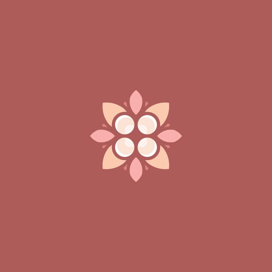 88 Flower logo