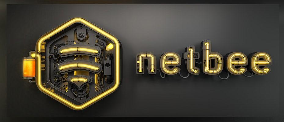 3D netbee logo