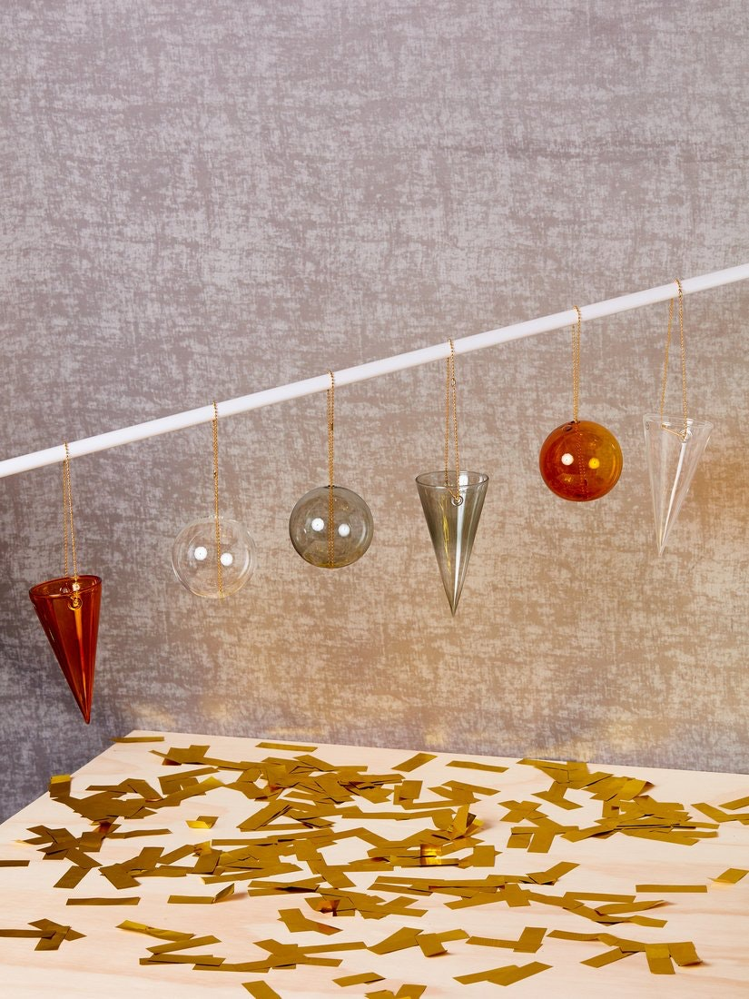 Elegant glass ornaments