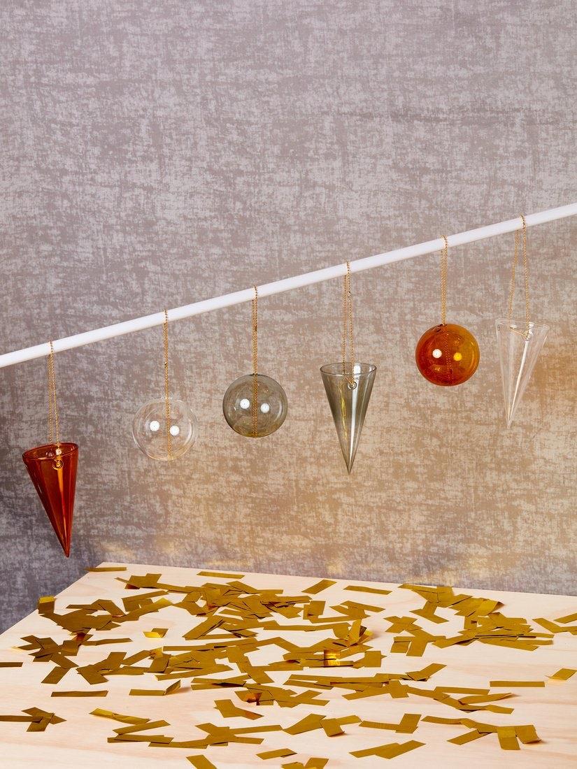 Elegant glass ornaments