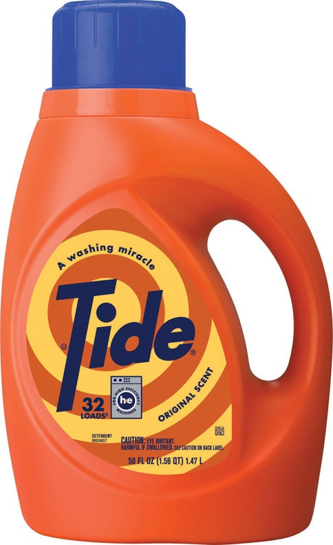 Vintage-packaged Tide container