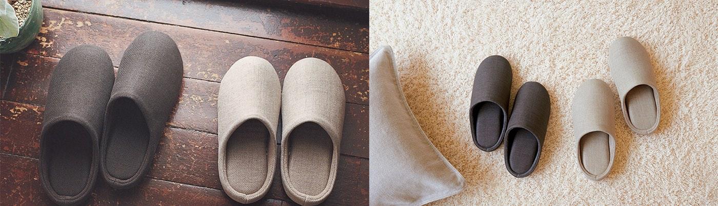 Muji linen slippers