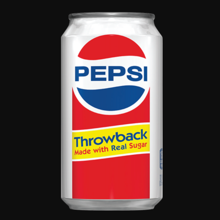 Pepsi throwback can