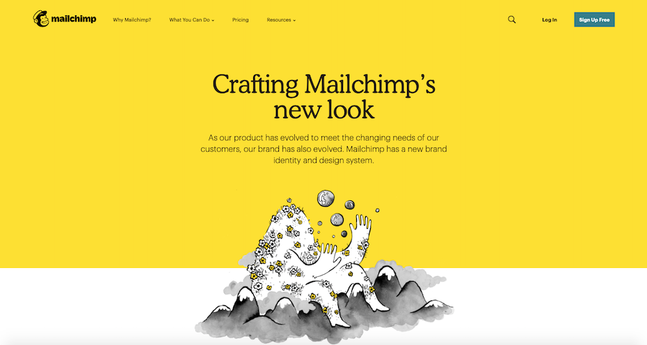Mailchimp web design  10 innovative web design trends for 2019 Screen Shot 2018 11 14 at 3