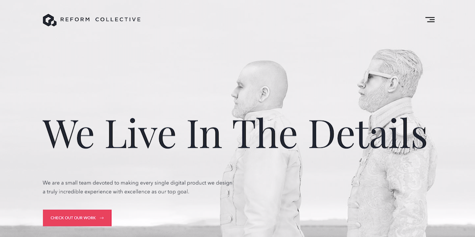 Reform Collective web design