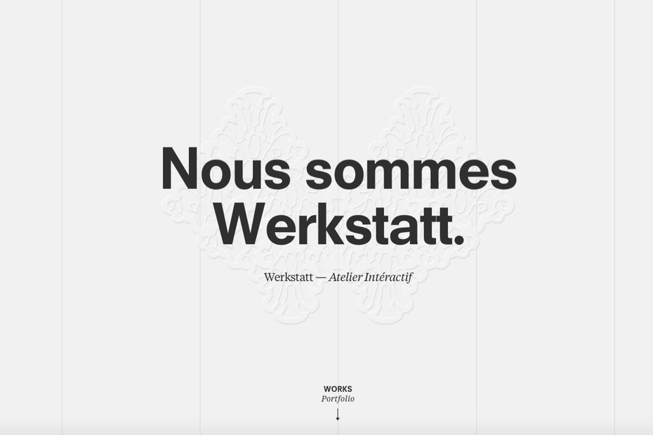 Werkstatt web design  10 innovative web design trends for 2019 Screen Shot 2018 11 14 at 3