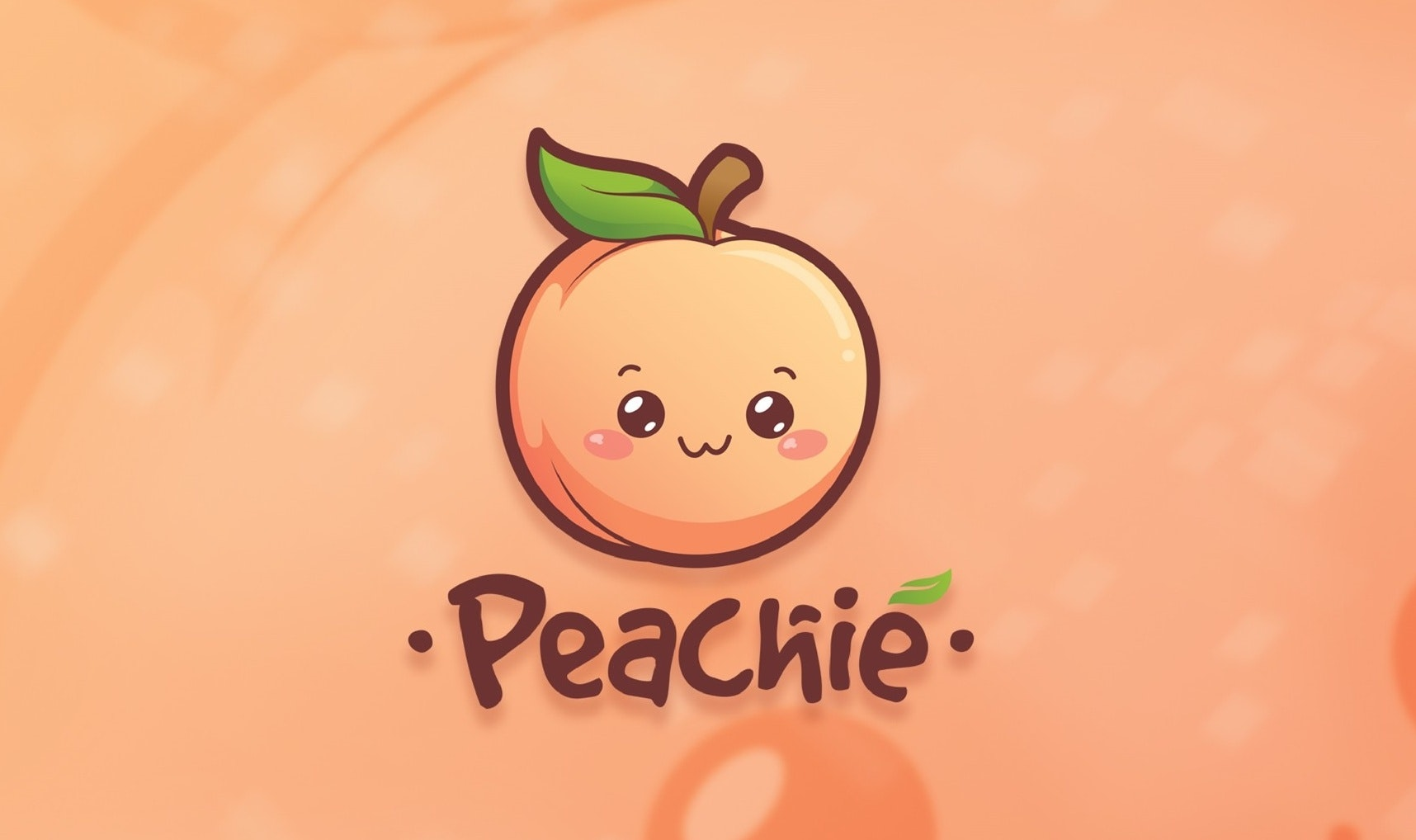 "Cute peach with the text ""peachie"""