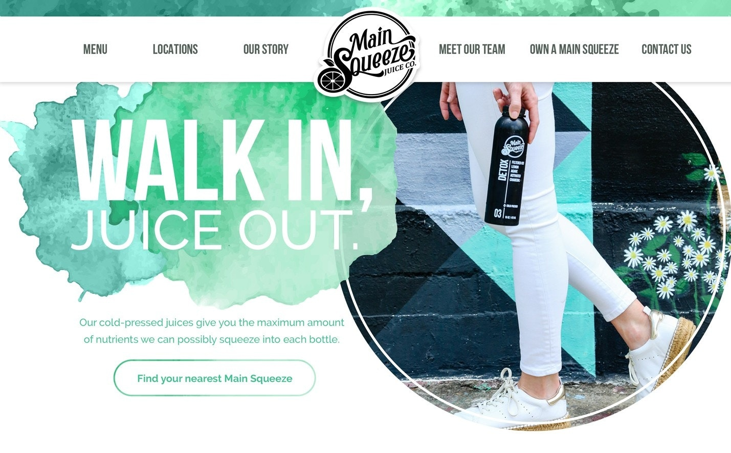 web design for a juice bar