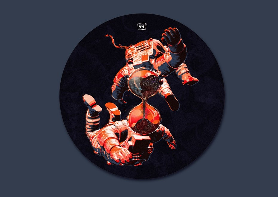 99designs astronaut sticker