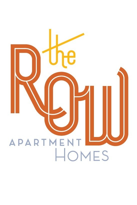 "Midcentury font displaying ""The Row apartment homes"""