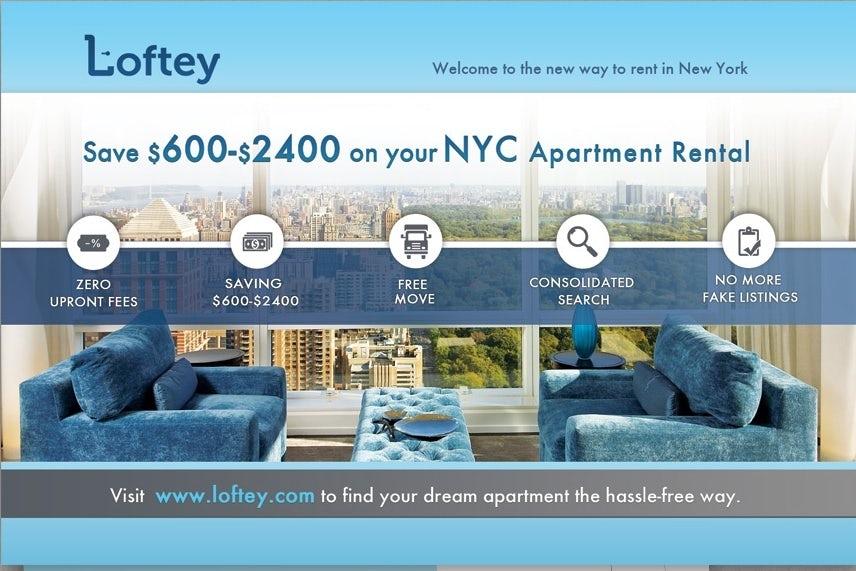 Loftey real estate company postcard