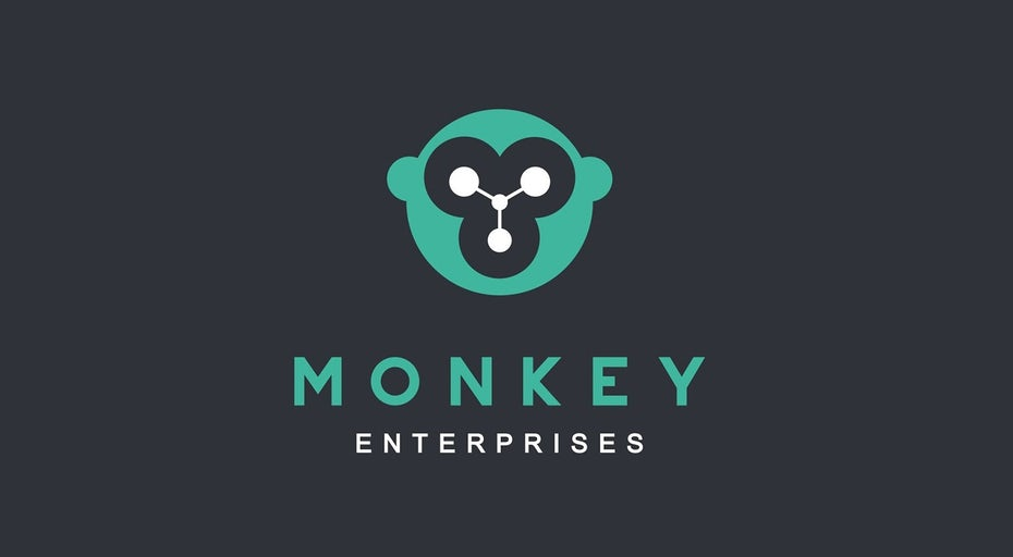 Un de nos exemples de logos uniques pour Monkey Enterprises