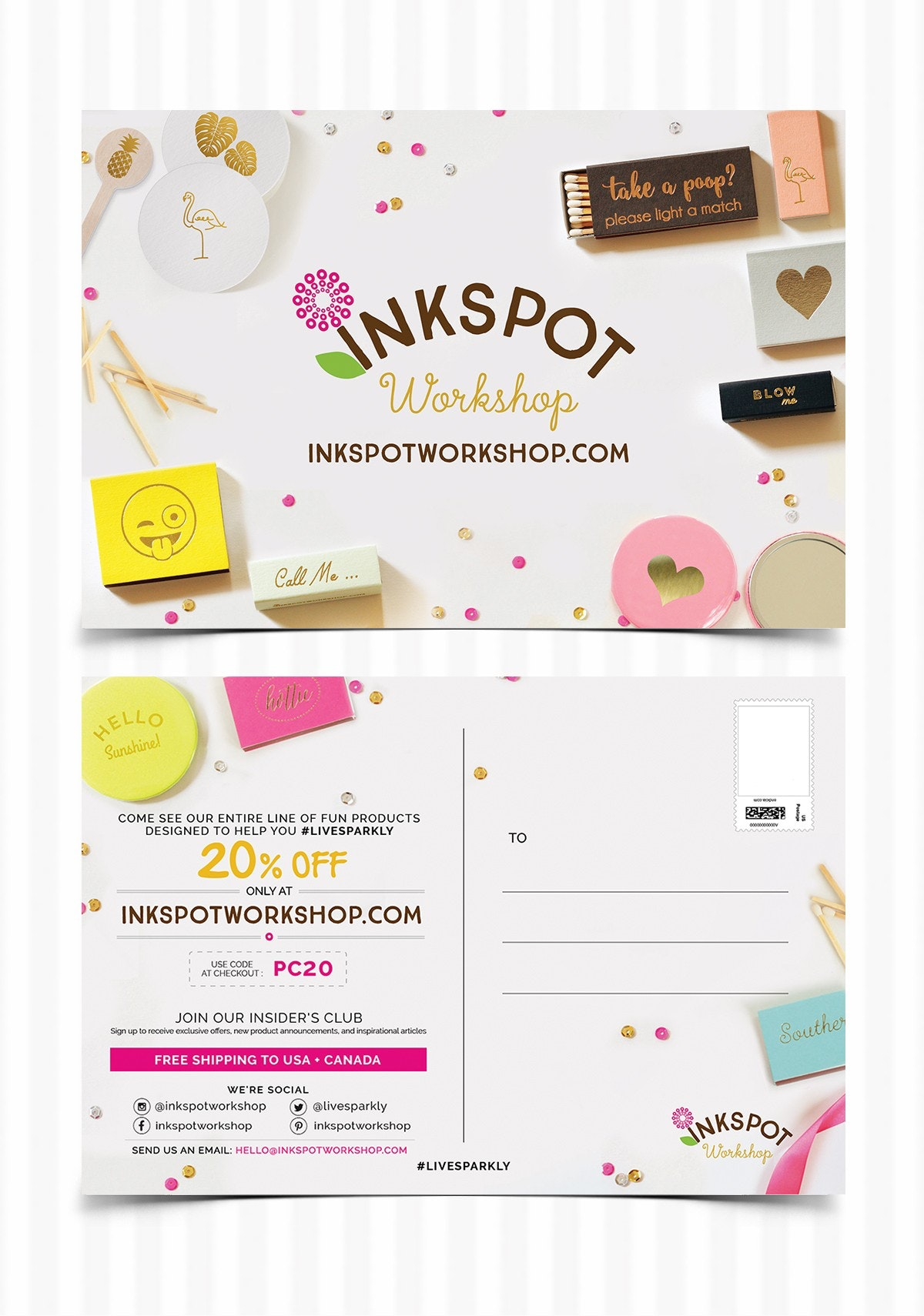 Inkspot Workshop postcard