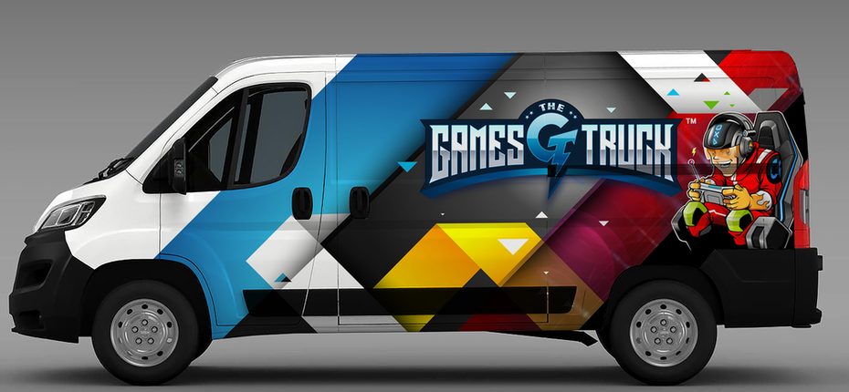 Games Truck vehicle wrap