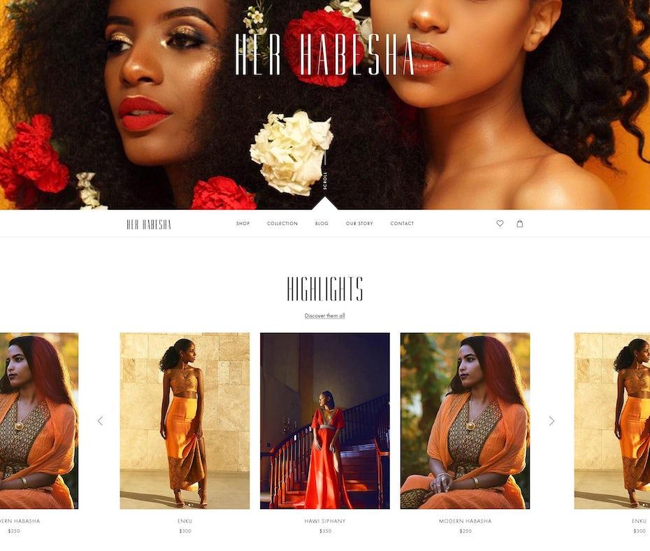 Her Habesha web design