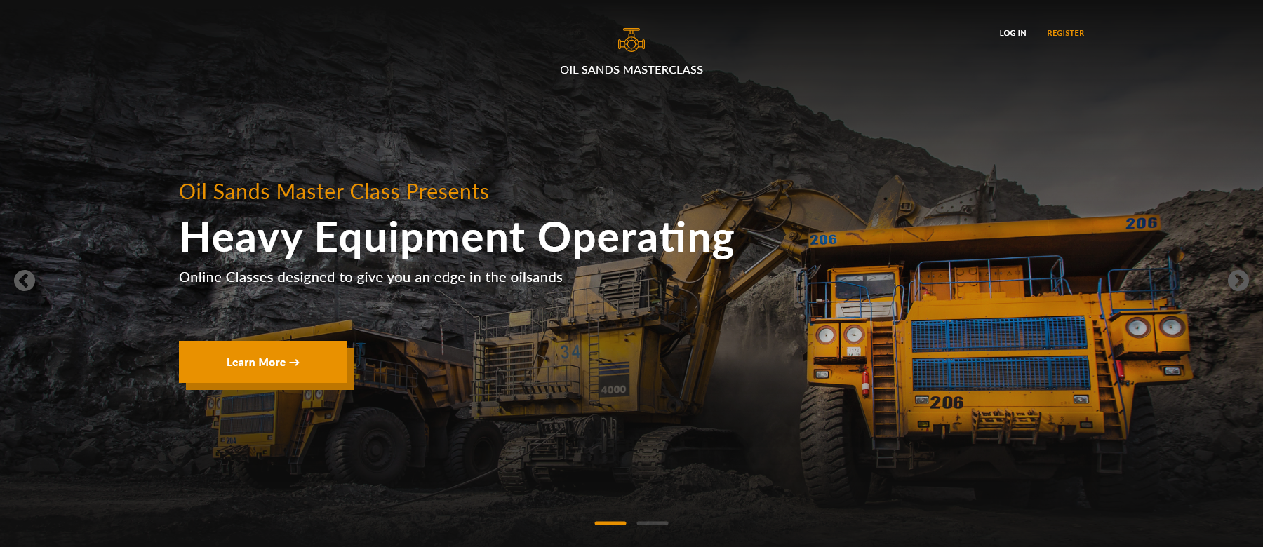 Oil Sands Master Class web design