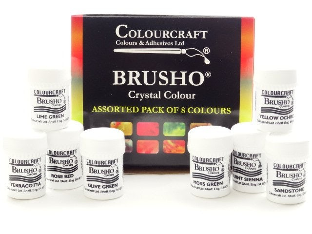 Brusho new colors assorted set