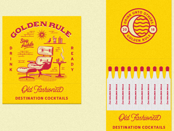 Golden Rule - Old Fashioned Matchbooks