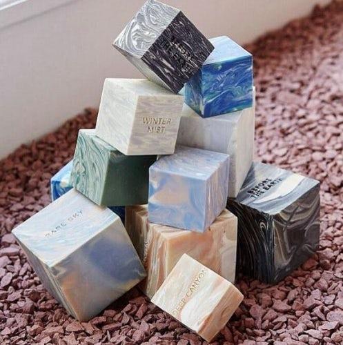 Rare sky cube soap