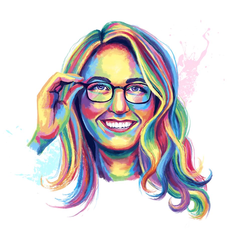 Natalie Franke portrait by Daria V.
