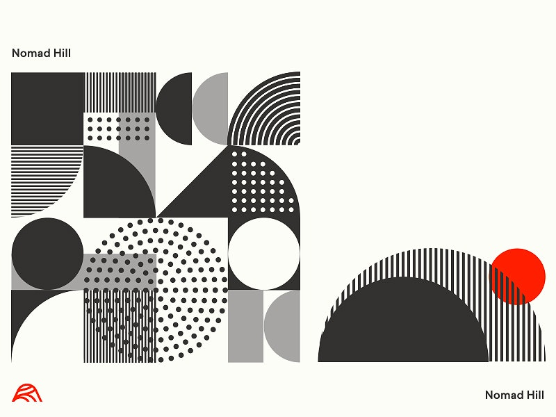 Mid-Century modern graphic design logo