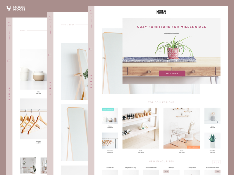 Furniture asymmetrical design