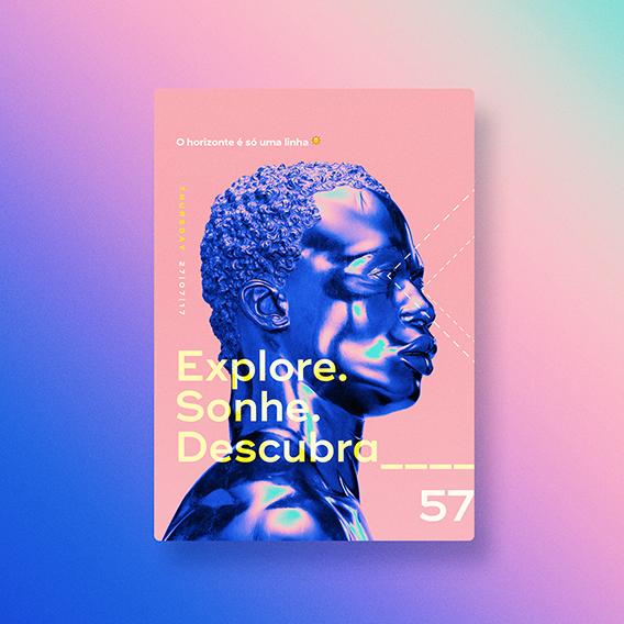 Explore. Sonhe. Descubra. poster design