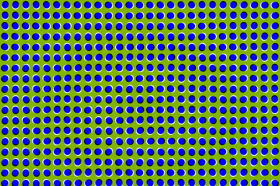 Use of dots to create an illusion of waves
