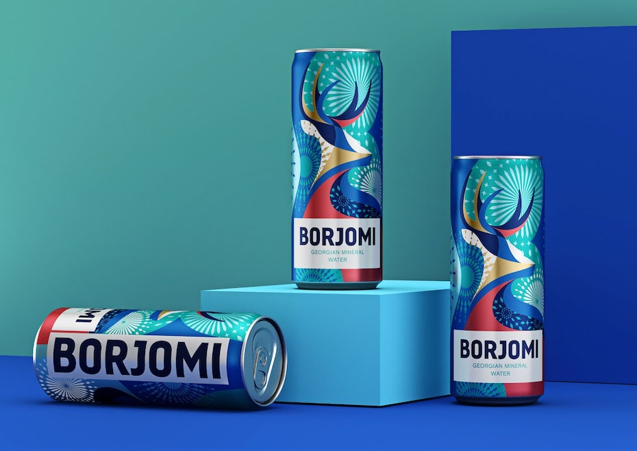 Borjomi Mineral Water pattern design