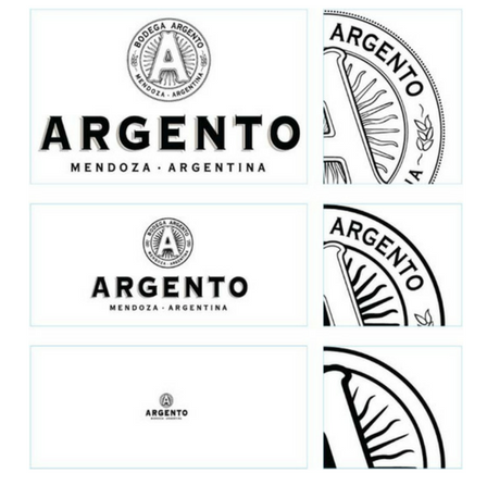 Detailing of the Argento logo