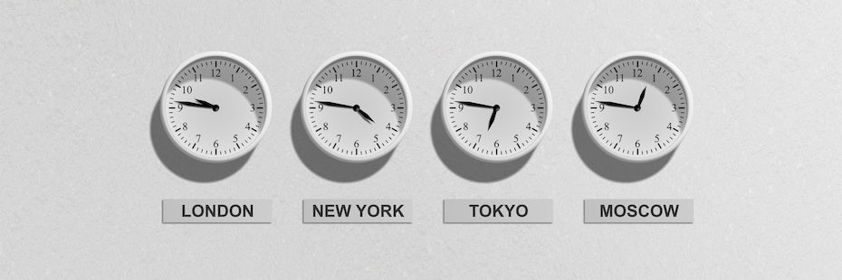Clocks with different time zones