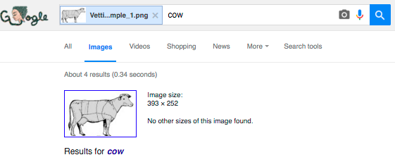 Search results for cow