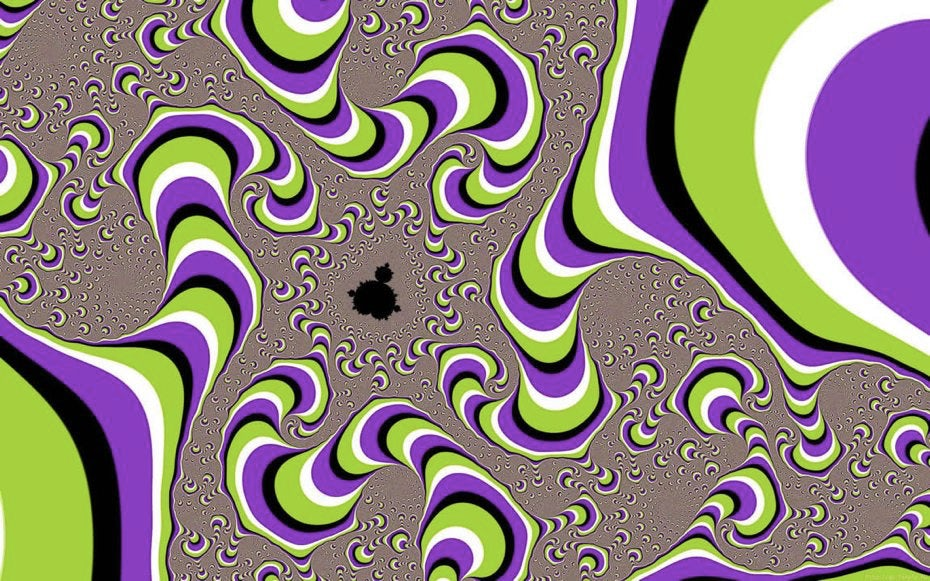 Optical illusion appears to breathe due to apparent motion
