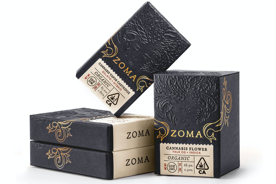 Zoma Cannabis sophisticated packaging