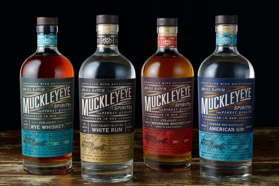 Muckleye vintage liquor design