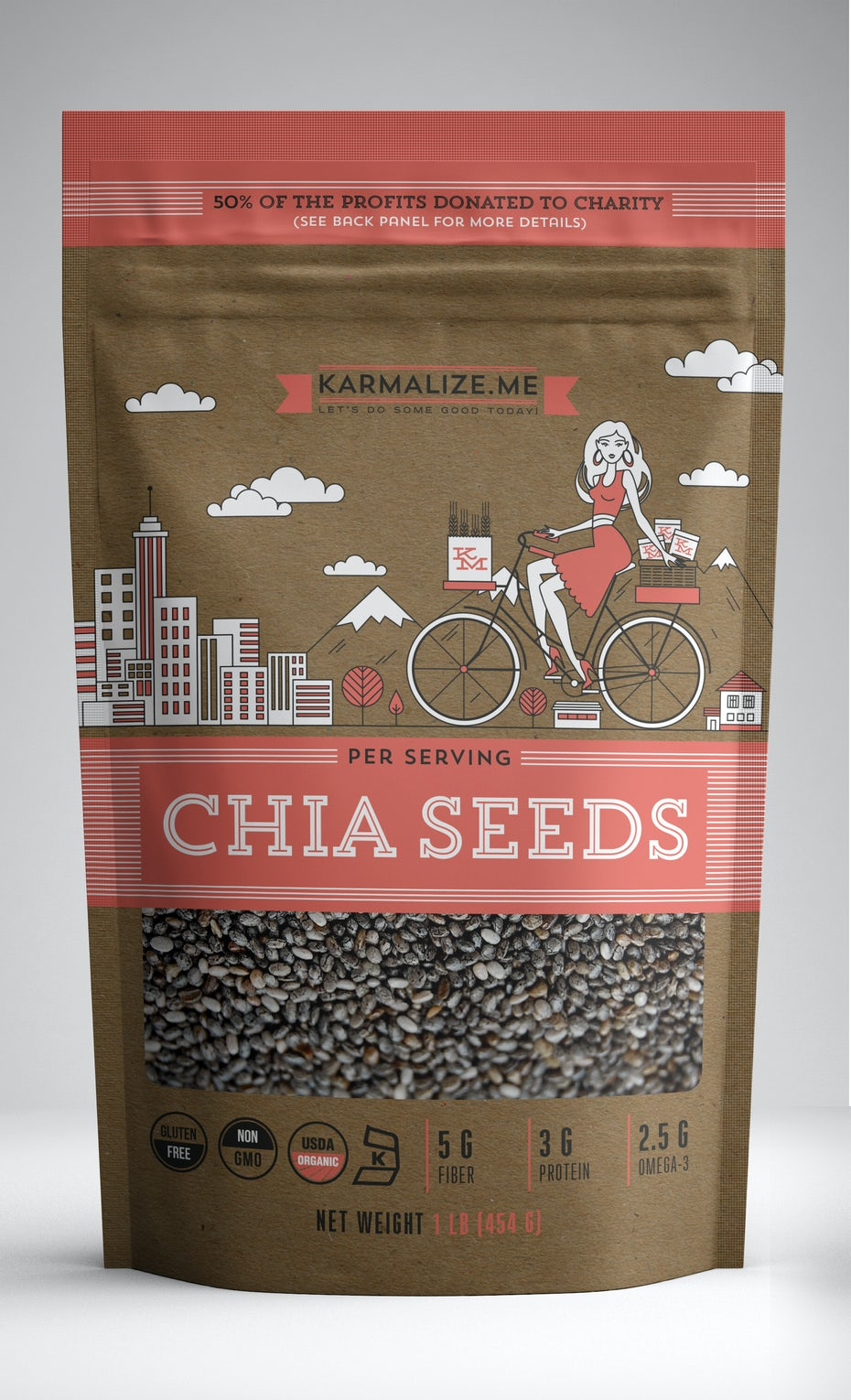 Chia seeds packaging