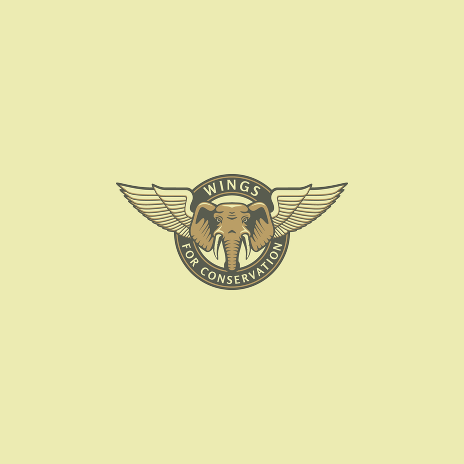 Wings for Conservation elephant logo