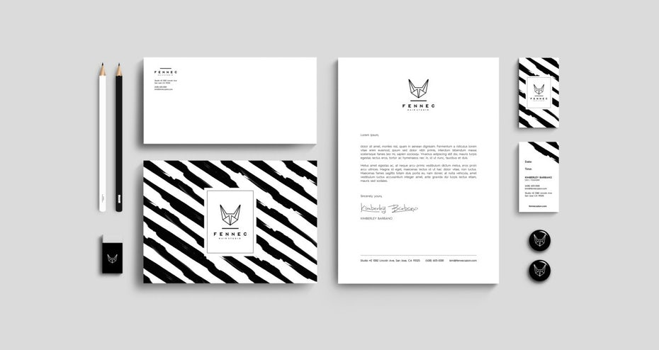 Different variations of one logo by svart ink