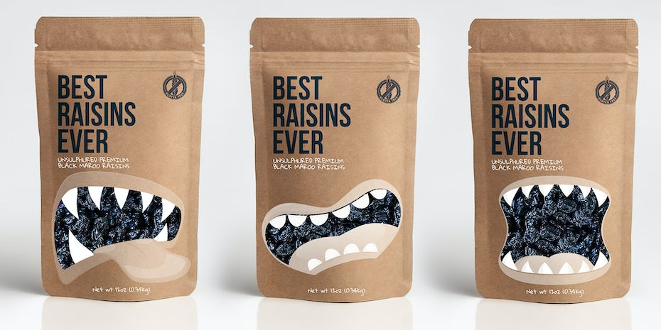Monster raisin packaging