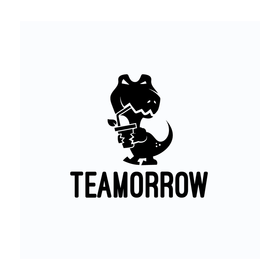 Teamorrow t rex logo
