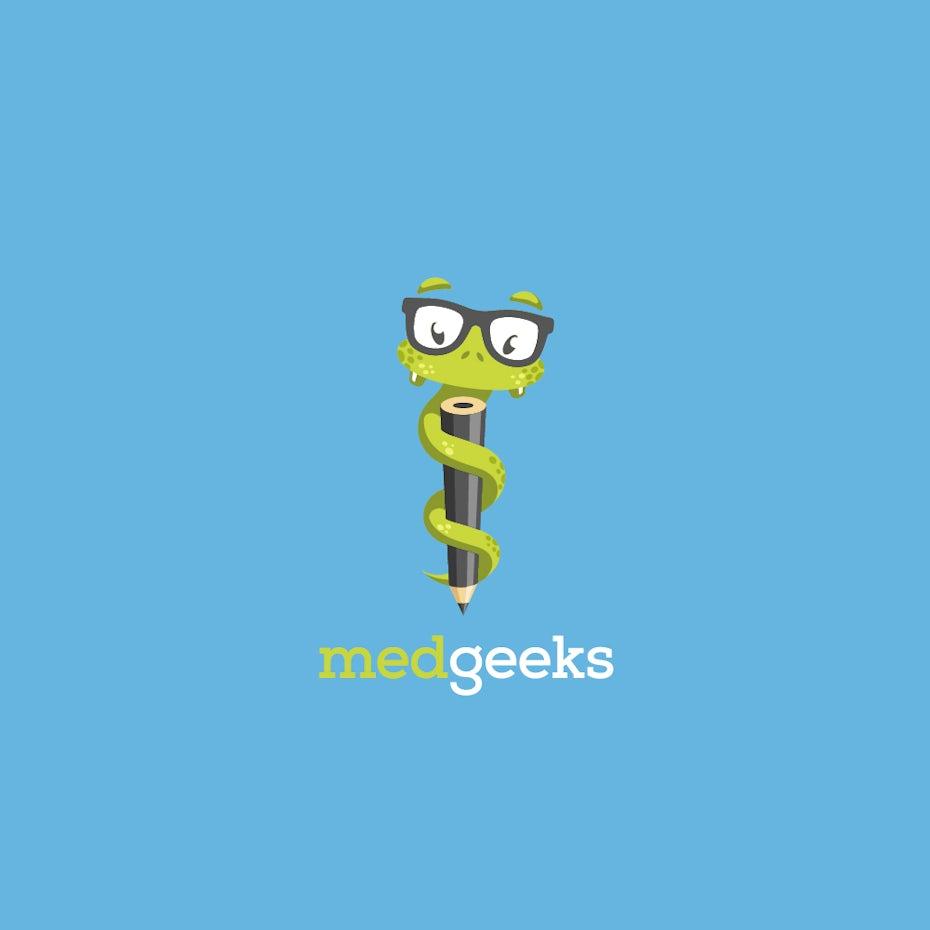 medgeeks snake logo